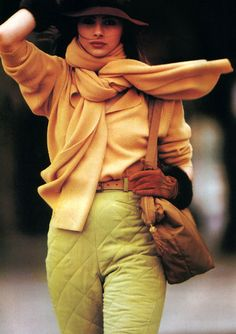 Hans Feurer for American Vogue, August 1989. Clothing by Calvin Klein.