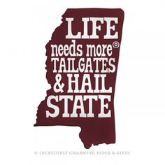 e15ba022a99 Life Needs More® Tailgates   Hail State Game Sign - ICPG State Game