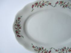Vintage Floral Favolina Poland Serving Platter by thechinagirl