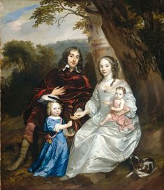 Govert van Slingelandt lord of Dubbeldam. With his first wife Christina van Beveren and their two sons by Jan Mijtens, Museum of the Netherlands Familieportret van Govert van. Potrait Painting, 17th Century Fashion, Classic Artwork, Family Painting, Dutch Golden Age, Amsterdam, Cavalier King Charles, Charles Spaniel, Museum