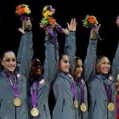 Women's Gymnastics GOLD for USA great job ladies!! Yay Fab Five!!