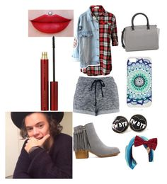 """Great night with Harry"" by ashleydirectioner2 ❤ liked on Polyvore featuring LE3NO, MICHAEL Michael Kors, Le Chateau, Too Late and Kevyn Aucoin"