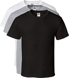 6da9dad9 Alstyle Men's Cotton Crew Neck Short Sleeve T-Shirt 3-Pack #clothing #