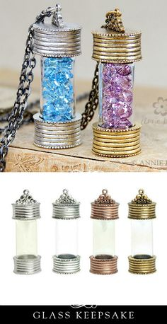 What would you put in your glass keepsake locket? I was thinking that sand from special beaches might be cool. Could hang them from the wall too.