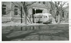 Capital Transit PCC entering Lincoln Park Car Barn on 15th Street NE (1950s).