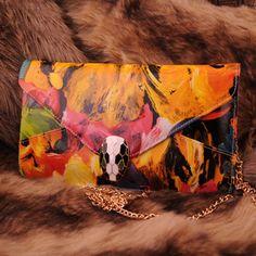 $45.99[grlhx120054]Unique Oil Painting Handbag Shoulder Bag