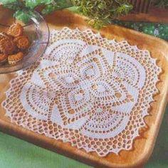 Square napkin, crocheted