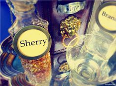 DIY Liquor Decanter Bottle Tags Labels for Guests Hostess Gift