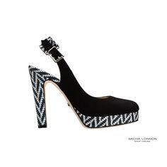 #black and #white #shoe TANIA. Shop.sachalondon.com