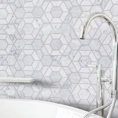 Jeff Lewis Bronson 9-1/2 in. x 11 in. x 8 mm Marble Mosaic Tile-98476 - The Home Depot