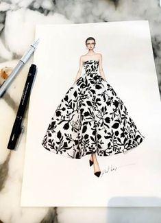 31 Ideas Fashion Sketches Dresses Design For 2019 Dress Design Drawing, Dress Design Sketches, Fashion Design Drawings, Dress Drawing, Fashion Sketches, Fashion Drawing Dresses, Fashion Illustration Dresses, Drawing Fashion, Fashion Illustrations