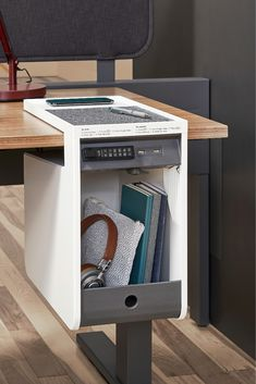 Sit down to focus or step away for a meeting while leaving your personal items secure in the SOTO Personal Console with keyless lock. Home Office Setup, Home Office Desks, Cool Furniture, Furniture Design, Rustic Furniture, Office Furniture, Furniture Ideas, Outdoor Furniture, Diy Wood Projects