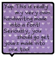 A Day In My Life: Your Font