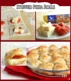 Stuffed Pizza Rolls – All food Recipes Pizza Recipes, Appetizer Recipes, Snack Recipes, Cooking Recipes, Appetizers, Kid Recipes, Cooking Ideas, Pizza Rolls, Pizza Pizza