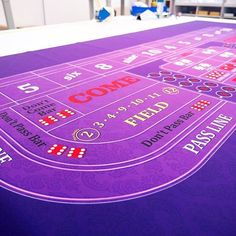 Classic Purple Craps - 10' design� ����� Wanna see more?  We sell tons of cool casino supplies online.  Link in our bio!