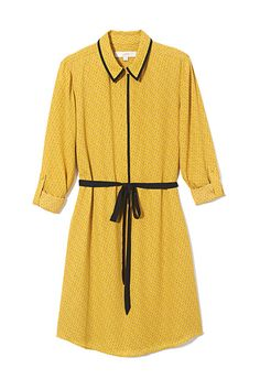 16 So-Easy Dresses For Every Fall Day #refinery29  http://www.refinery29.com/fall-shirtdresses#slide4  — SPONSORED —  Just because summer's tucked away doesn't mean the sunburst yellows and dainty floral prints need to be in hiding. Sport 'em in the easiest silhouette ever: a throw-on-and-go shirtdress.