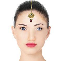 Banithani Ethnic Maang Tika Designer Wedding Forehead Jewelry Gift For Her