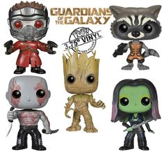 Guardians of the Galaxy Pop! Vinyl Bobble Figures. Finally got them all this week.
