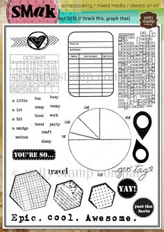 track this, graph that {smak 10/12} - Unity Stamp Co