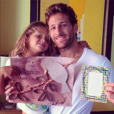Juan Pablo Galavis Holds Camila on Fathers Day