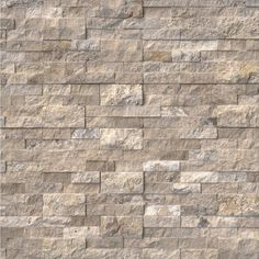 Philadelphia Stacked Stone Panels feature creamy beige tones accentuated by hints of chocolate. Crafted from natural travertine, these panels are suitable for interior and exterior projects including accent walls, fireplace walls and backsplashes. Fireplace Remodel, Fireplace Wall, Fireplace Surrounds, Fireplace Ideas, Fireplace With Stone, Fireplace Accent Walls, Airstone Fireplace, Stone Veneer Fireplace, Stone Fireplace Designs