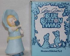 Vintage House of Global Art Blue Button by DianesBargainShack, $25.00