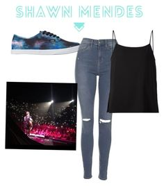 """""""The concert"""" by chrissyjosy ❤ liked on Polyvore featuring Vans, Topshop and Helmut Lang"""