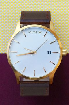 10% off until 2/5/2015! White/Gold Leather watch x MVMT Watches  Click image to purchase