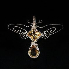 Hey, I found this really awesome Etsy listing at https://www.etsy.com/listing/23935648/citrine-sterling-dragonfly