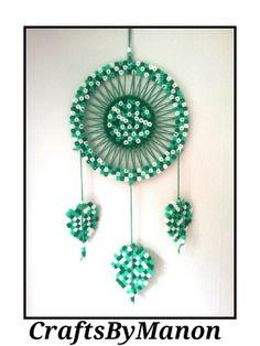 Dreamcatcher made of perler/hama beads - CraftsByManon