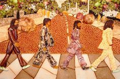 This food artist has certainly put the 'eat' in 'beatles'. Looking at this delicious food platter, it's hard not to want to eat it, especially when the road is made of baked beans, and jackets are made from food such as sausages, mushrooms and bacon! We love the amount of effort this artist has gone to, and this is definitely one of our favorite works of food art!