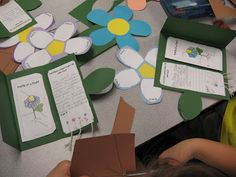 Flower foldable for extension or assessment with plant life cycle study