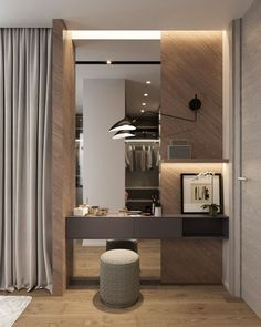40 Amazing Dressing Table Design Ideas To Try Asap - Zimmereinrichtung Wardrobe With Dressing Table, Dressing Table Modern, Dressing Room Decor, Bedroom Dressing Table, Dressing Room Design, Bedroom Table, Dressing Tables, Dressing Table Vanity, Bedroom Decor