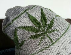Knitting Pattern: Marijuana Leaf Hat Adult by SpindleCityKnits