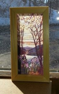 making stained glass with a printer and clear labels