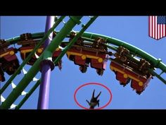 Roller coaster death compilation: woman falls from amusement park ride - compilation - YouTube