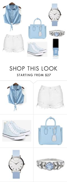 """""""Untitled #225"""" by kleopatra92 ❤ liked on Polyvore featuring Topshop, Converse, MCM, Cathy Waterman and JINsoon"""