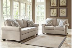 Vintage Casual living room set with sofa and loveseat