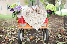 DIY 'here comes the bride wagon'  photos by Honey Heart Photography | CHECK OUT MORE IDEAS AT WEDDINGPINS.NET | #weddings #diyweddings #diy