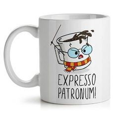 Gifts Harry Potter Nerd Ideas For 2019 Cute Coffee Mugs, Cute Mugs, Funny Mugs, Coffee Cups, Coffee Beans, Coffee Time, Harry Potter Expecto Patronum, Theme Harry Potter, Harry Potter Memes