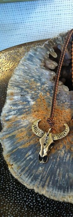 Ram horn up chain necklace!
