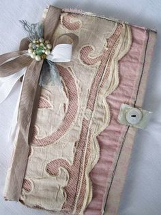 journal Fabric Books, Fabric Journals, Fabric Paper, Art Journals, Paper Art, Vintage Journals, Handmade Journals, Handmade Books, Handmade Crafts