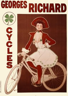 Six sizes from $29 TITLE: Georges Richard Cycles ARTIST: Fernand Fernel CIRCA: 1898 ORIGIN: France  Fine art giclee print on heavy acid free archival paper using 100+ year fade resistant inks.