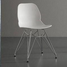chaises transparent empilables 2 FALENA Lot de en plexiglas O0wPnk