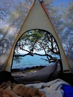 Krijgen jullie na het zien van deze foto ook zin om te kamperen?
