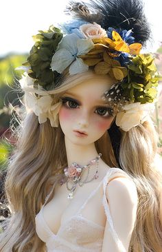 Love Nymph | Flickr - Photo Sharing! Bjd flowers hair