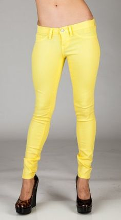 Flying Monkey Jeans Fluorescent Skinny Jeans - Yellow | Len's apparel $64.00