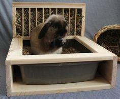 Bunny Rabbit Hay Feeder and Litter Box von animalfriendzy auf Etsy