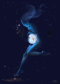 Pregnancy, Universe, Galaxy, Motherhood, Gaia