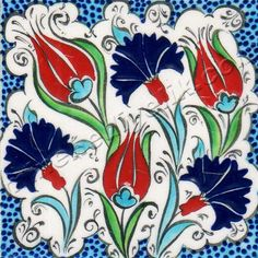 Osmanlı Saray Çinileri İznik Duvar Panoları Turkish Tile Art Karoları Colonial Art, Tile Art, Flower Painting, Ceramic Art, Painting, Turkish Art, Art, Eastern Art, Art Hobbies
